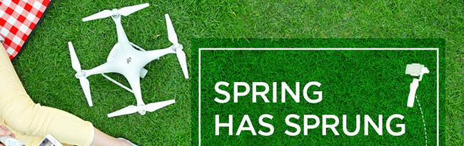 Spring Has Sprung! Get yourself a DJI Spring Gift Set, with savings on individual Osmo and Osmo+ purchases.